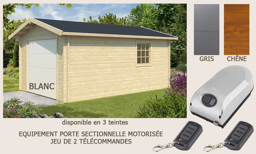 garage toulouse porte sectionnelle 44mm 18 7m int rieur. Black Bedroom Furniture Sets. Home Design Ideas