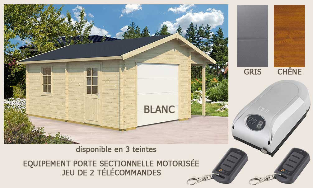 garage nantes porte sectionnelle motoris e 44mm 18 6m int rieur. Black Bedroom Furniture Sets. Home Design Ideas