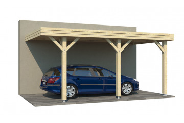 Carport toit plat adossable Dardilly