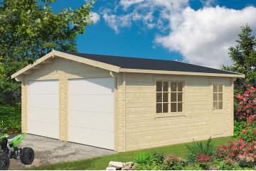 Garage DAX porte sectionnelle 70mm contrecollés - 27.8m² int