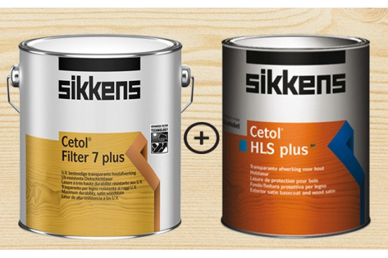 lot lasure sikkens 5l hls + 5l filter 7 - tous chalets