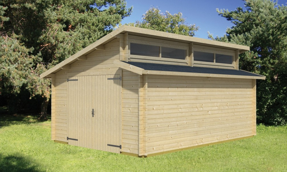 Double garage bois 50m2 awesome cout garage m m tarif for Tarif construction garage 50m2