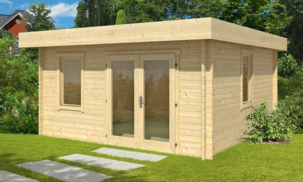 Abri de jardin lacanau 28 mm 15 5m int rieur for Porte de cabanon double
