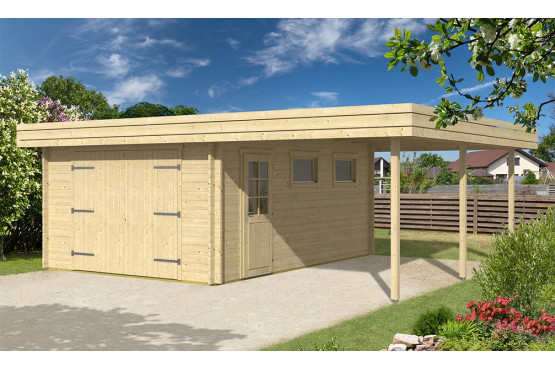 Garage dr me 44mm 17 6m int rieur 14m for Garage en bois en solde