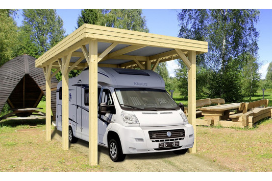 carport toit plat camping car 23 4m couvert. Black Bedroom Furniture Sets. Home Design Ideas
