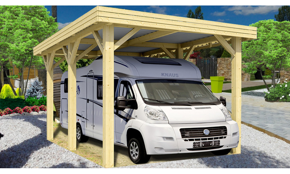 carport evasion1 camping car couvert. Black Bedroom Furniture Sets. Home Design Ideas
