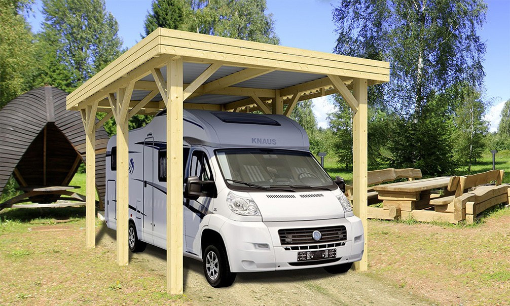 carport evasion camping car 23 4m couvert. Black Bedroom Furniture Sets. Home Design Ideas