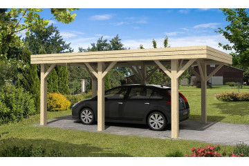 Carport toit plat simple - 23,4m² couvert