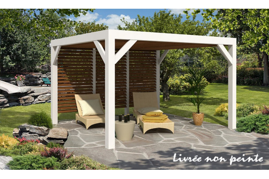pergola bioclimatique avec une surface de m. Black Bedroom Furniture Sets. Home Design Ideas