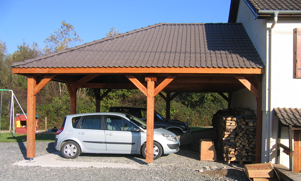 Exemple de carport adossable